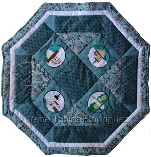 lighthouse table topper wm